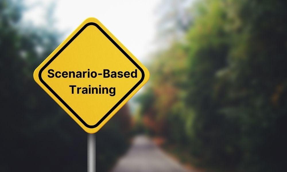 Scenario-Based Training sign